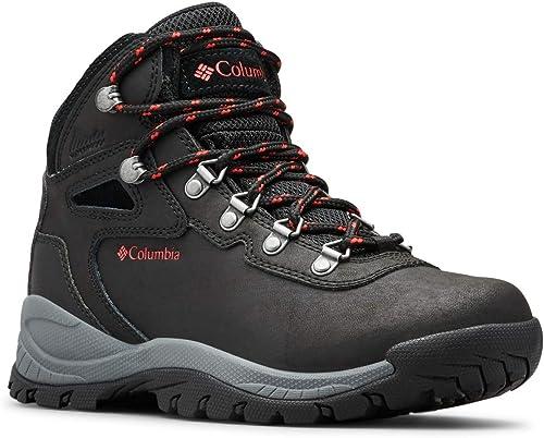 Columbia Wohommes Newton Ridge Plus Hiking démarrage, noir Poppy rouge, 11 Wide US