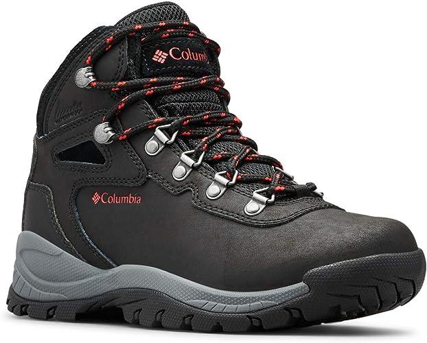 Columbia Wohommes Newton Ridge Plus Hiking démarrage, noir Poppy rouge, 8 Wide US