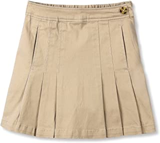 Girl's Cotton Stretchy Twill School Uniforms Pocket Pleated Skirt