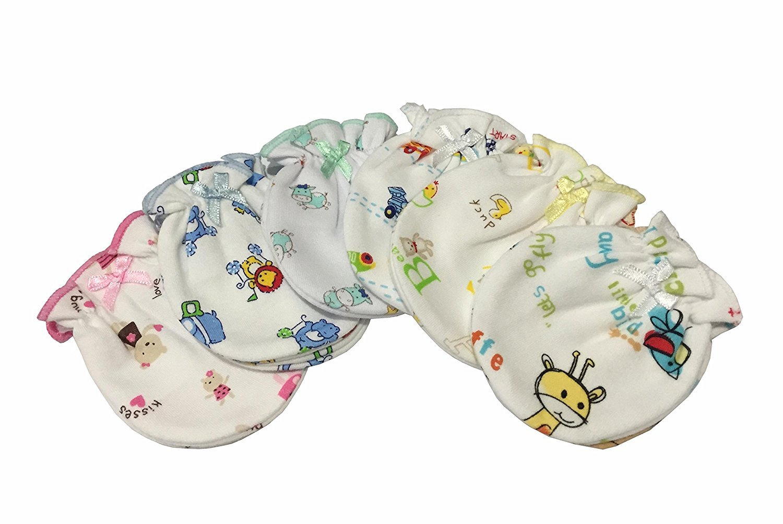 MIX Cartoon 6 Superlatite Pairs Phoenix Mall Cotton infant Newborn Baby Mitt anti-Scratch