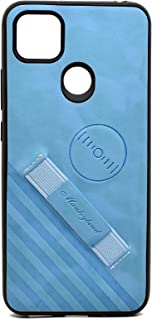 Leather Cover With Holder For Xiaomi Redmi 9C (Blue)