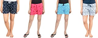 A9 Multicolor Pure Cotton Shorts for Women, Pack of 4