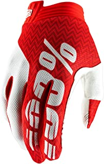 100% 2019 iTrack Gloves (Large) (RED/White)