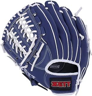 ゼット(ZETT) 野球 軟式 グローブ オールラウンド 初心者用 衝撃吸収パッド付き 11.5インチ (小学生~一般用) ブルー BDG2012