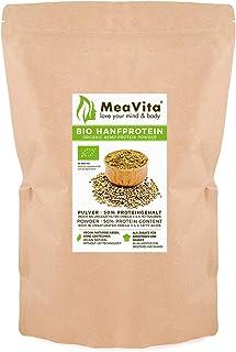 MeaVita Bio Hanfprotein Pulver, hoher Proteingehalt, pflanzliches Proteinpulver, 1er Pack 1 x 1000g
