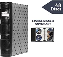 Bellagio-Italia Tuscany DVD Binder, Black/Gray - Beautifully Store and Protect DVDs, Blu-Rays, CDs, Photos and Video Games (1)