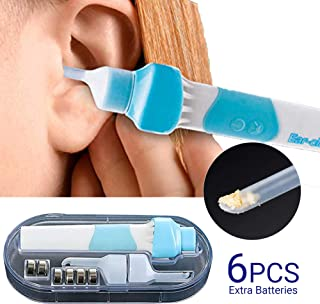 Ear Wax Removal Kit, Ear Cleaner, Electric Earwax Removal Tools, Ear Vacuum Cleaner Easy Earwax Remover Soft Prevent Ear-Pick Clean Tools Set with LED Light