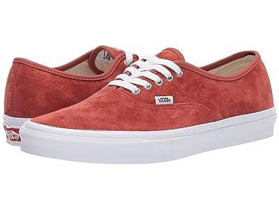 Vans Authentictm ((Pig Suede) Burnt Brick/True White) Skate Shoes