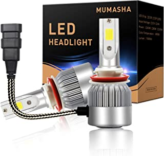 LED Headlight Bulbs Headlight bulb H11 H9 H8 All-in-One Conversion Kit Led headlights H11 with COB Chips 8000 Lm 6500K Cool White Beam Bulbs IP68 Waterproof