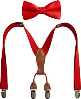 Red Suspenders And Bow Tie For Boys