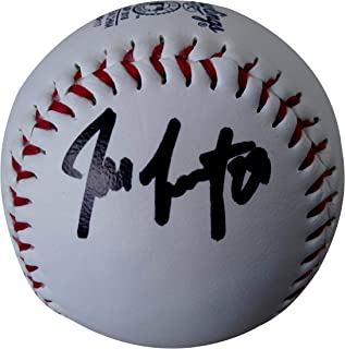 Jeff Samardzija San Francisco Giants Autographed Signed SF Giants Logo Baseball with Exact Proof Photo of Signing and COA