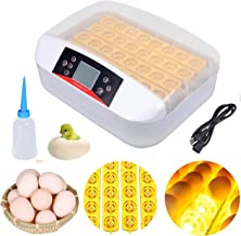 XuanYue Automatic Egg Incubator LED 32 Eggs Incubators Hatching Eggs Temperature Control Chicken Hatcher for Chicken Ducks Goose Poultry Pigeon Quail (LED Candler Included)