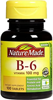 Nature Made Vitamin B-6 100 mg Tablets 100 ea (Pack of 4)