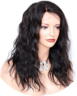 Wave Human Hair Wigs Pre Plucked Hairline Brazilian Remy Hair Full Lace Wig with Baby Hair Lightly Bleached Knots crack of dawn,14inches,150%,#1B
