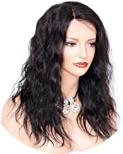 Wave Human Hair Wigs Pre Plucked Hairline Brazilian Remy Hair Full Lace Wig with Baby Hair Lightly Bleached Knots crack of dawn,12inches,180%,Natural Color