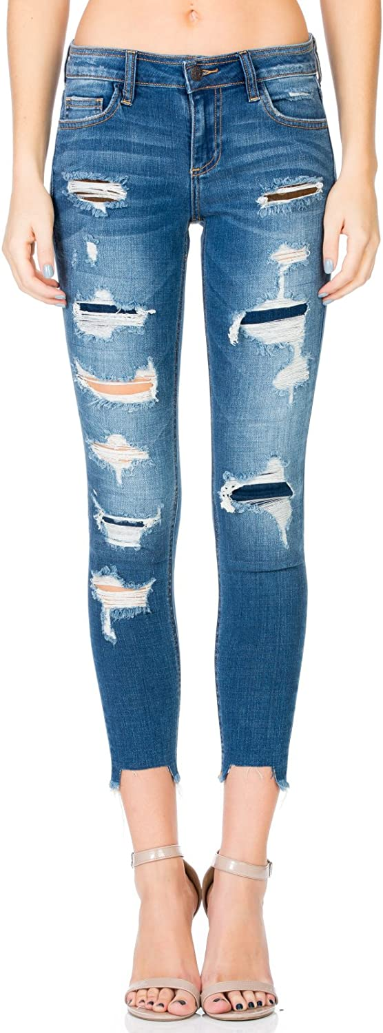 Cello Jeans Patched Cropped Skinny