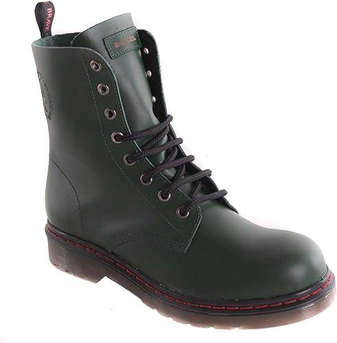 Diesel chaussures bottes femme en en en cuir véritable pour femme vert - 75 ff8