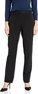 Rafaella womens Rafaella Women's Curvy Fit Gabardine Slim Leg Pant Dress Pants