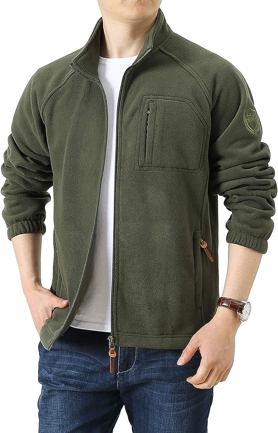Locachy overseas Men's Full-Zip Brand Cheap Sale Venue Fleece Jacket Lightweight Outdo Windproof