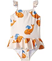 mini rodini - Whale Skirt Swimsuit (Infant/Toddler/Little Kids/Big Kids)