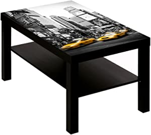 Coffee Table with American Cities New York Taxi Design