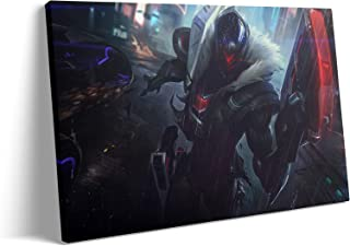 Wall Art for Living Room - The Virtuoso Project Jhin Marksman MOBA Game Poster : Canvas Prints Art for Hallway Home Decor ...