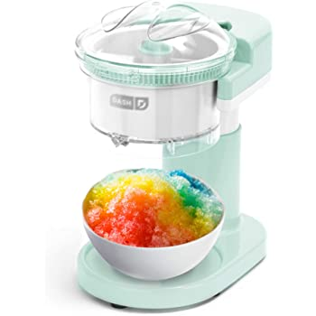 Dash DSIM100GBAQ02 Shaved Ice Maker + Slushie Machine with Stainless Steel Blades for Snow Cone, Margarita + Frozen Cocktails, Organic, Sugar Free, Flavored Healthy Snacks for Kids & Adults, Aqua