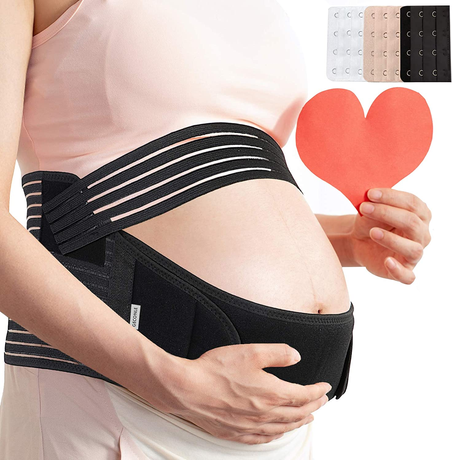 Pregnancy Belly Support Band Maternity Belt Comfortable & Breathable for Pain Relief and Postpartum Recovery Black : Clothing, Shoes & Jewelry