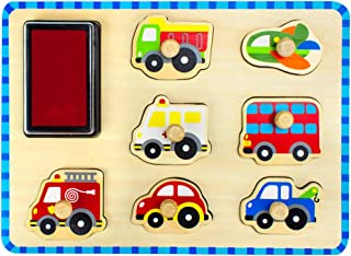 Professor Poplar's Puzzle Stampers Puzzle Boards with Inkpad by Imagination Generation (People Movers)