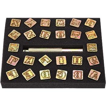 36 pc Tampons Lettres Alphabet Chiffres Set Punch Acier Métal Die outil Case Craft