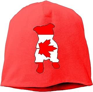 Canada Flag in Pitbull Men Women Winter Skull Cap Skiing Beanie Hat