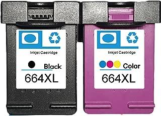 LOVEINK Combo Kit 2 Pack 664XL Ink Cartridge for Deskjet Ink Advantage 1115 2136 3636 3836 (1 Black/ 1 Tri-Color)