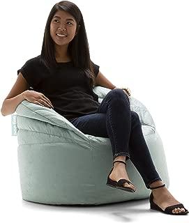 Big Joe Stack Chair, Turquoise Plush Bean Bag