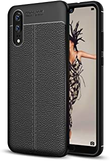 JDYS AYSMG For Huawei P20 Litchi Texture Soft TPU Protective Back Cover Case(Black) (Color : Black)