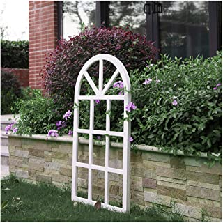 Glitzhome Window Frame Wall décor Rustic Arch Wooden Window Pane Country Farmhouse Decorations 36