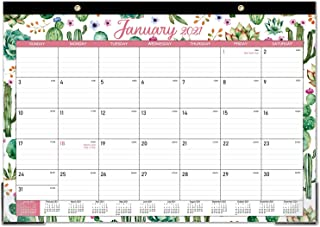 "2021 Desk Calendar - 12 Months Desk Calendar, 17"" x 12"", Monthly Desk or Wall Calendar, January 2021 - December 2021, Larg..."