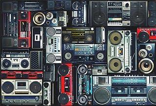 AOFOTO 7x5ft Vintage Wall of Radio Boombox Backdrop Retro 80s Style Photography Background Nostalgic Old-Fashioned Amplifi...