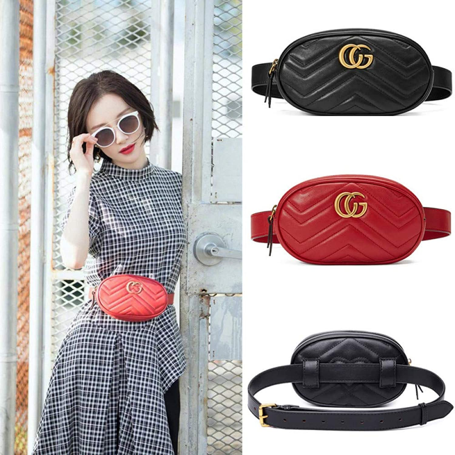Unbekannt Ms. Pockets with The Same Paragraph Fashion Letters Letters Letters Large Capacity Casual Outdoor travel Pockets Ladies diagonal dual-use Multi-Function Pockets, schwarz, CG B07Q98T2QH  Leicht zu reinigende Oberfläche a7075a