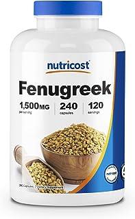 Sponsored Ad - Nutricost Fenugreek Seed 1500mg, 240 Capsules - Gluten Free, Non-GMO, 750mg Per Capsule