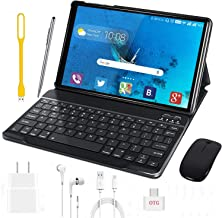 Tablet 10 Inch, Android 9.0 Pie Tablets with Wireless Keyboard Case and Mouse, 3GB RAM 32GB ROM, Quad Core, Google GMS Cer...