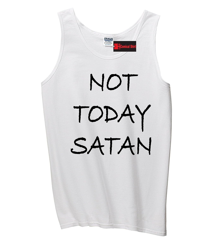 ComicalシャツMen 's Not Today Satan面白い宗教Teeタンクトップ