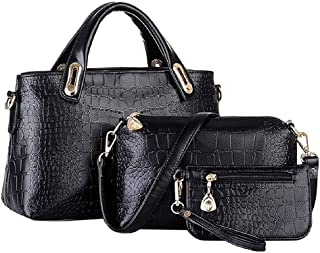 GEDASHAN Women Shoulder Bag Unique Shoulder Bag Grain Three-Pieces Mother Son Messenger Bag
