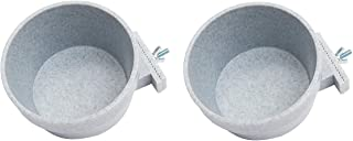 Lixit Two Pack Granit Quick Lock Feeding Bowls for Rabbits, Ferrets, Dogs, Cats, Birds hillas, Guinea Pigs and Other Pets...