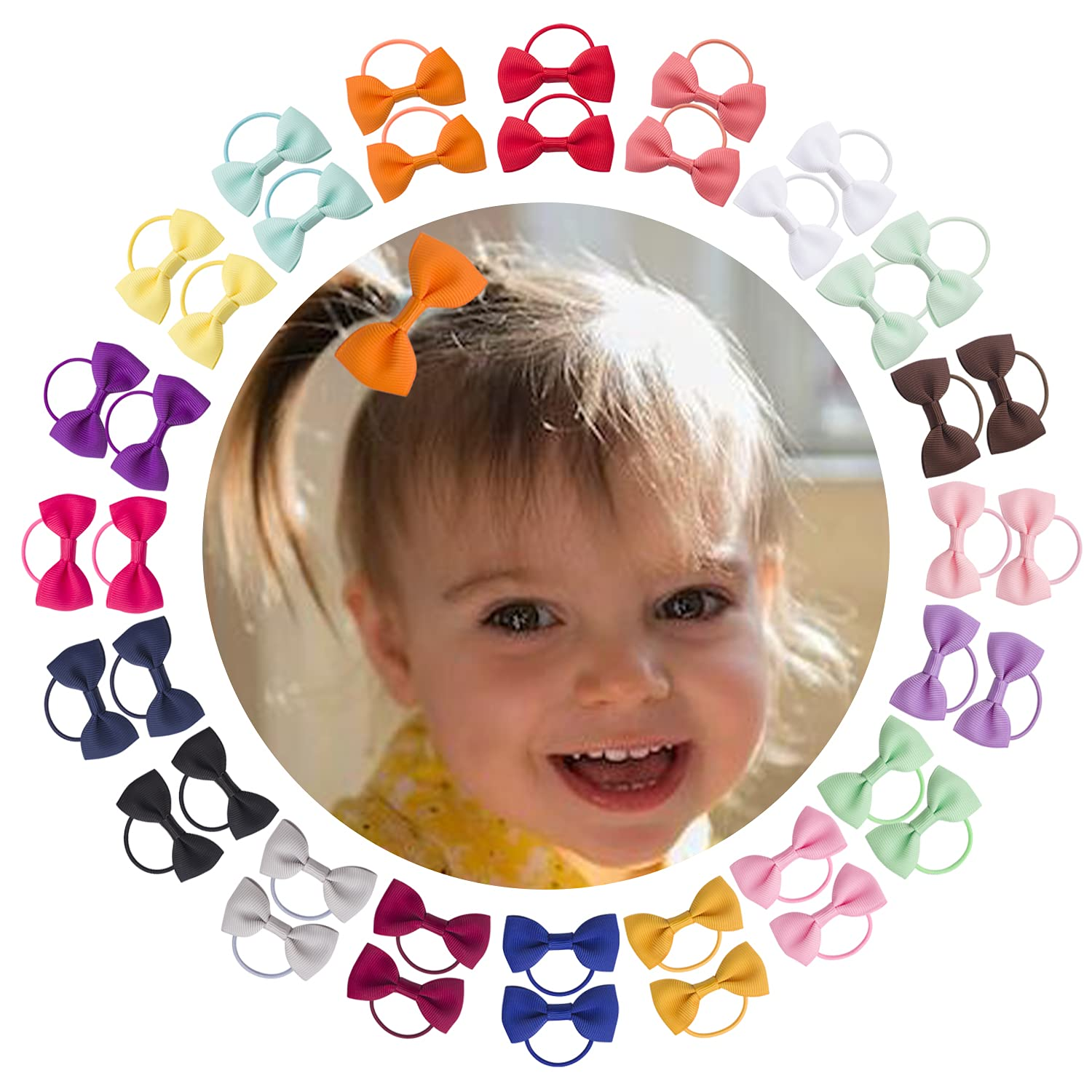 Oakland Mall Shipping included Baby Bow Hair Ties-VINOBOW 2Inch Girls Bows Ties With