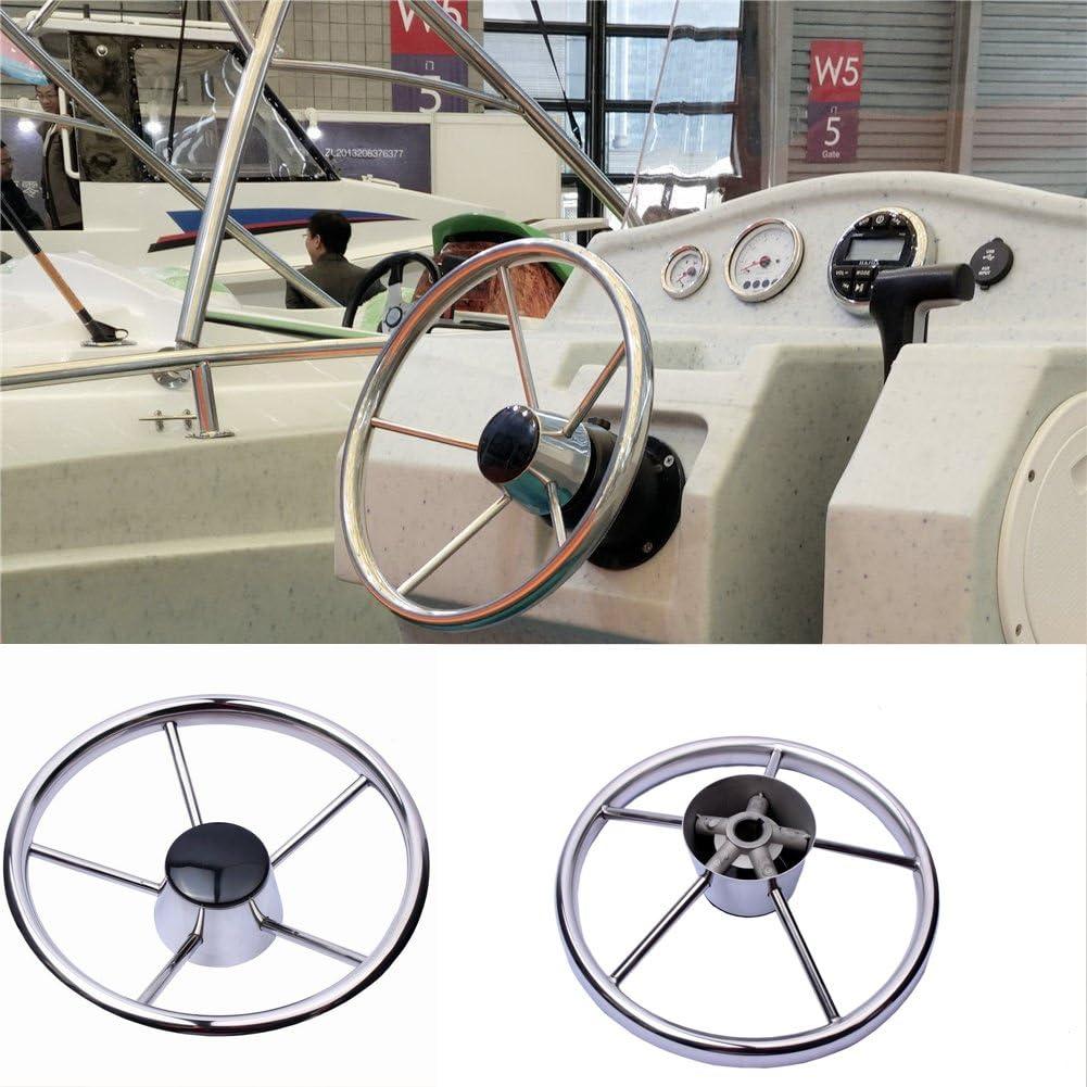 Hoffen Boat Mesa Mall Stainless Steel Steering Wheel 13- Limited price sale Spoke Degree 25 5