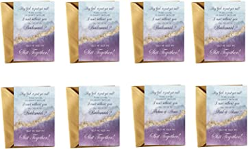 Opulent Be My Bridesmaid Cards with Maid of Honor and Matron - 8 Proposals