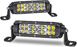 Super Slim LED Light Bar 5 Inch, Yvoone-Auto LED Work Light Spot Flood Combo Off Road Dual Row LED Driving Fog Lamps for Trucks Jeep ATV UTV Boat 4x4 SUV Marine