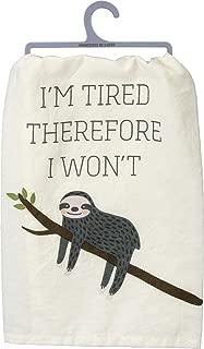 sloth kitchen towels