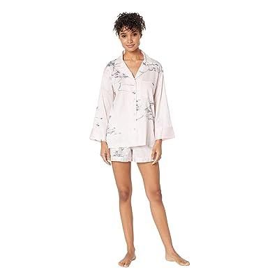 Natori Hakone Short Sleeve w/ Shorts PJ Set (Pink Dogwood) Women
