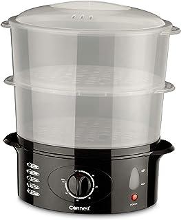 Cornell CS201 2 Tier Daily Food Steamer 10L Capacity,Black/Grey